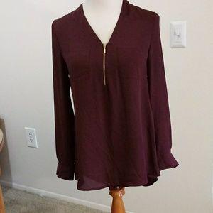 APT.9 dark purple shirt size s